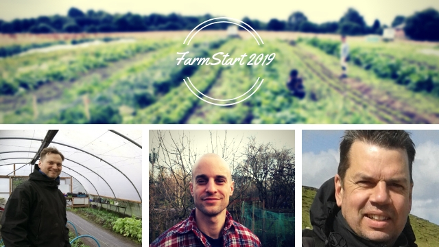 A photo of Andrew, Nick and Nick, the 2019 FarmStarters