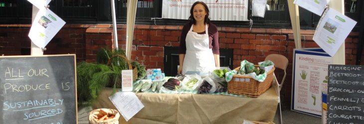 Nina working the markets in Stockport