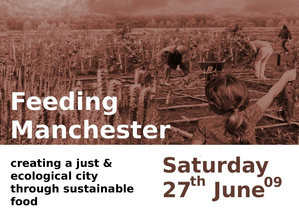 The first FeedingManchester publicity leaflet.