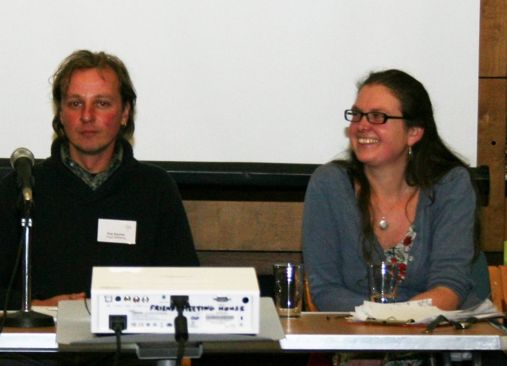 Kindling's Helen Woodcock on the MLFW discussion panel with Rob Squires.