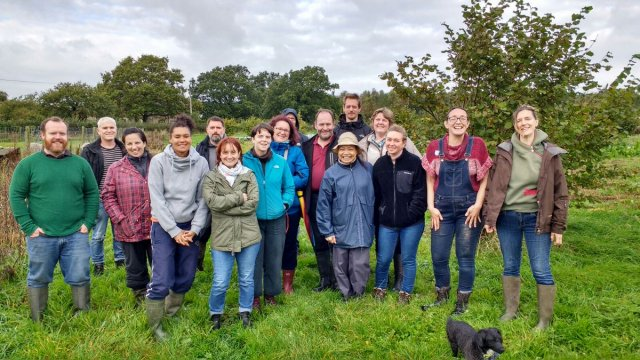 The last commercial growers course group visiting Fir Tree Farm