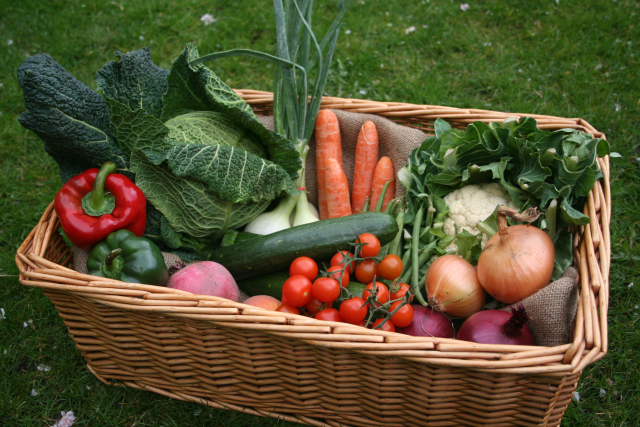 Locally grown organic veg