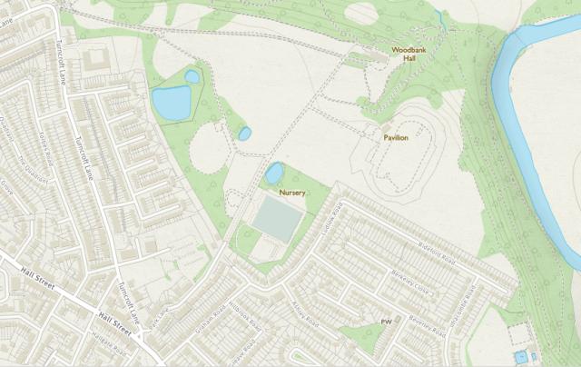 Woodbank map