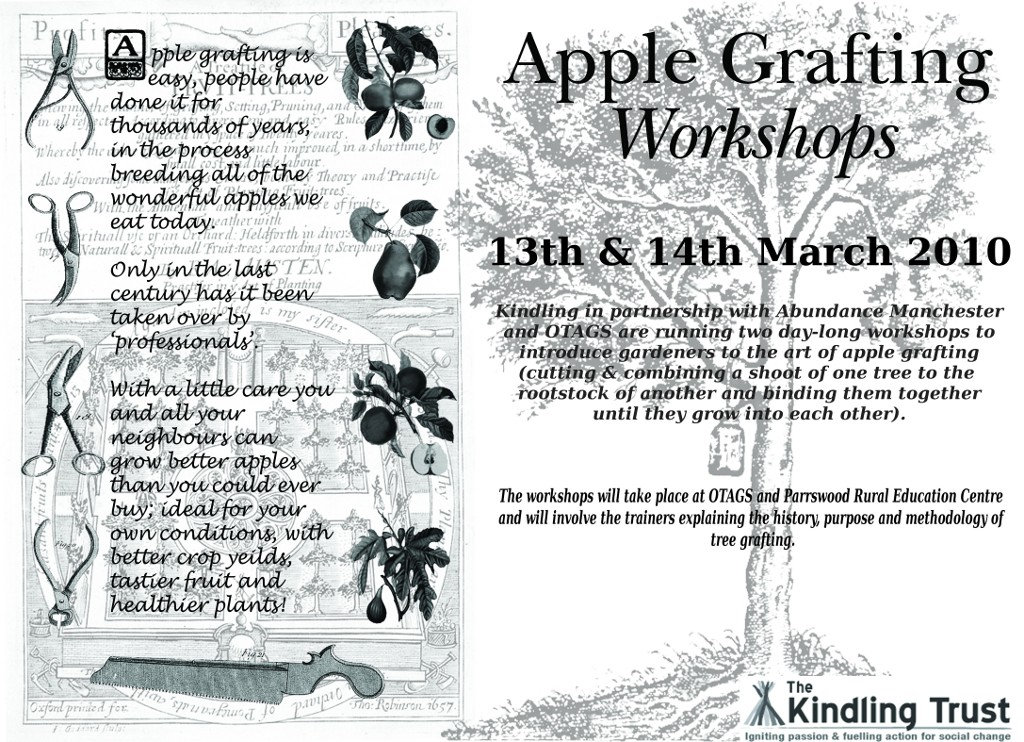 Apple Grafting Workshop Poster.