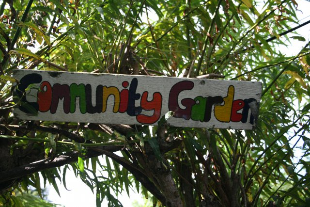 Community Garden Sign.
