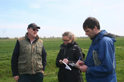Helen and Stu visiting Steven Briggs to research agroforestry