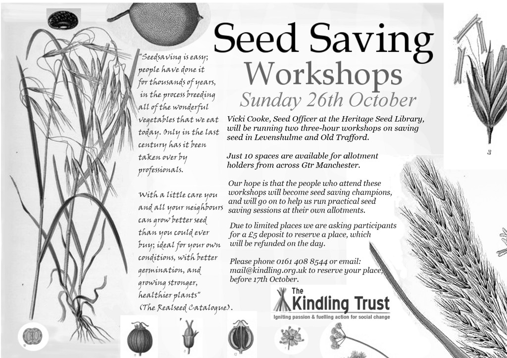 The seed saving workshop poster.